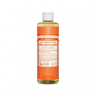 Savon de Castille multi-usage 18 en 1 Tea Tree - 475 ml - Dr Bronner's