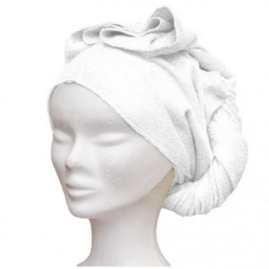 Serviette sèche cheveux en bambou Ecru (Les Tendances d'Emma)