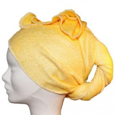 serviette s che cheveux en bambou jaune les tendances d 39 emma. Black Bedroom Furniture Sets. Home Design Ideas