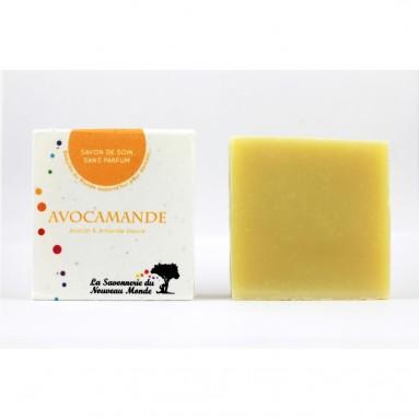 Savon de soin Avocamande - Sans parfum - 100 gr - La savonnerie du Nouveau Monde