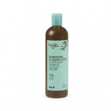 Shampooing 2 en 1 nettoyant et démêlant au savon d'Alep pour cheveux gras - 500 ml - Najel