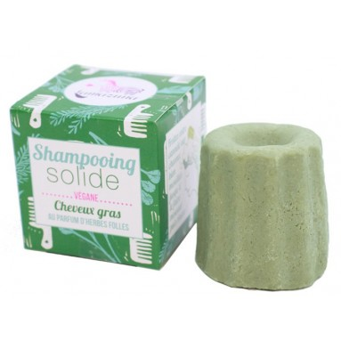 Shampooing solide Herbes folles - cheveux gras - 55 gr - Lamazuna