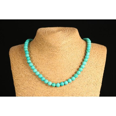 Turquoise - Collier perle 40 cm - Nia