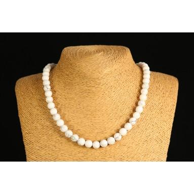 Howlite - Collier perle 40 cm - Nia
