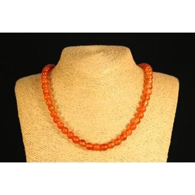 Cornaline - Collier perle 40 cm - Nia