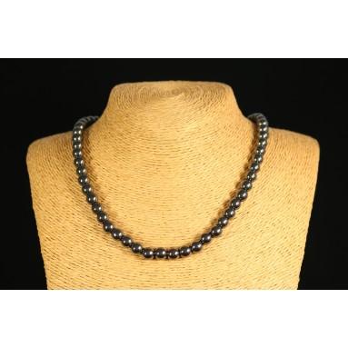 Hématite - Collier perle 40 cm - Nia