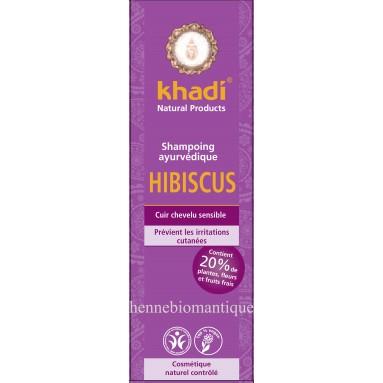 Shampoing khadi à l'hibiscus