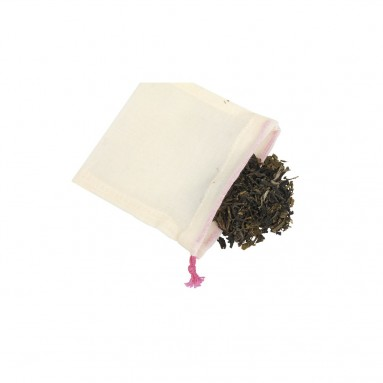 5 sachets infusion réutilisables et lavables en coton BIO