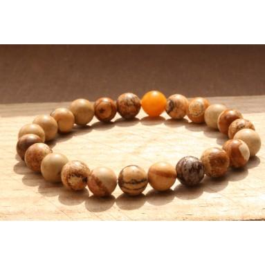 Bracelet perle Jaspe paysage - NIA