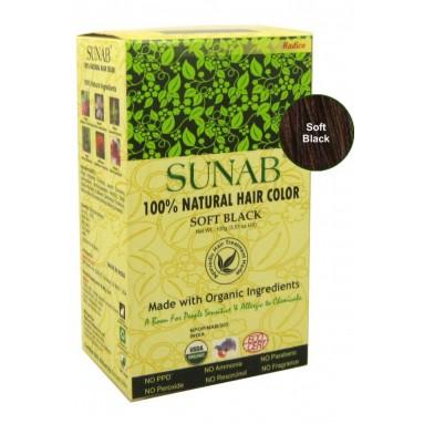 Coloration Ayurvédique SUNAB - Noir doux - 100g