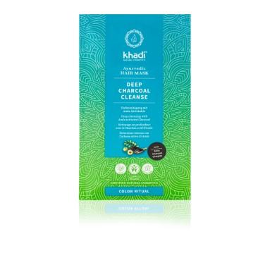 Masque capillaire ayurvédique - Charbon actif Amla - Khadi - 50g