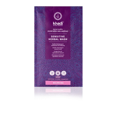 Shampoing ayurvédique en poudre herbal wash sensitive - Khadi - 50g
