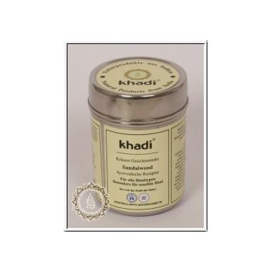 Masque khadi au Bois de santal