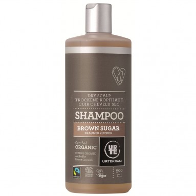 Shampoing URTEKRAM - Cuir chevelu sec au sucre brun BIO 500 ml