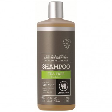 Shampoing URTEKRAM - Cuir chevelu irrité au tea tree BIO 500 ml