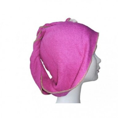 Turban sèche cheveux Bambou Fibao fuchsia