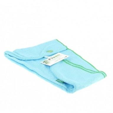 Turban sèche cheveux Bambou Fibao Turquoise