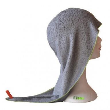 Turban sèche cheveux Bambou Fibao gris