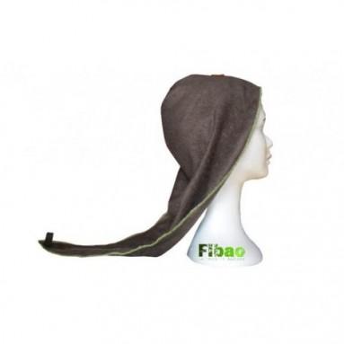 Turban sèche cheveux Bambou Fibao Brun