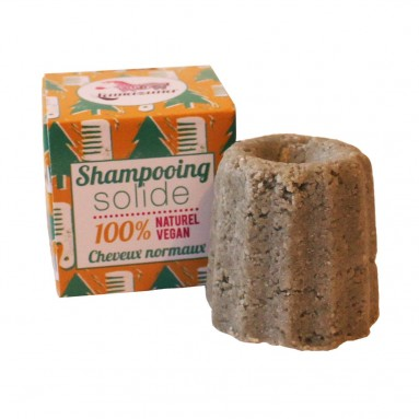 Shampoing solide au pin sylvestre - Cheveux normaux - 55 g - Lamazuna