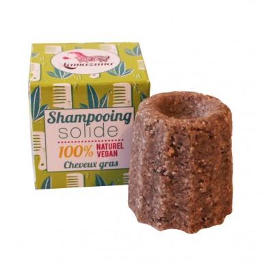 Shampoing solide à la litsée citronnée - Cheveux gras - 55 g - Lamazuna